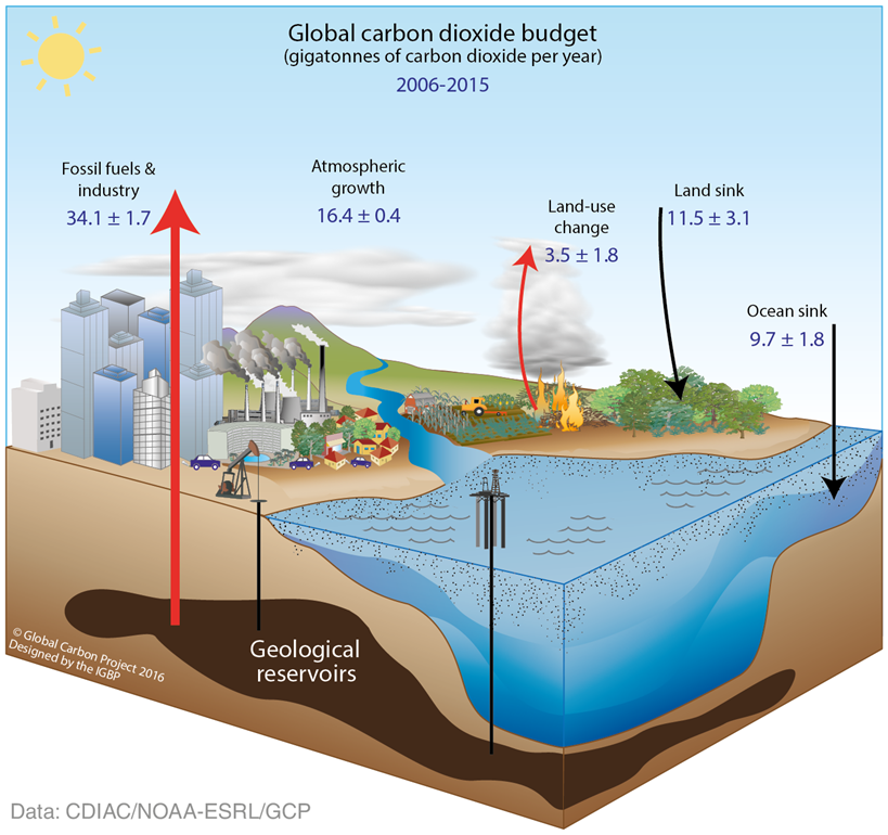how co2 effects the earths oceans The main effect of increased greenhouse gas emissions is global warming carbon dioxide, methane, nitrous oxide and fluorinated gases all help trap heat in the earth's atmosphere as a part of the greenhouse effect.