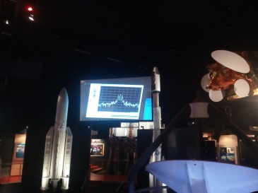 """The very 1st signal sent by TROPOMI once it is space, with the solar panels deployed, 1h30 after its launch! """"We have a new Sentinel-satellite in orbit in space"""" said at that moment ESOC!"""