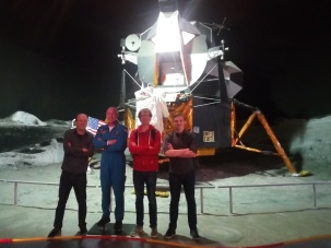 Thanks to my GRS colleagues (Thomas Frederikse & Jonathan Izett) to have followed me at Space Expo! (with the sculptrure of the Dutch Astronaut Andre!).