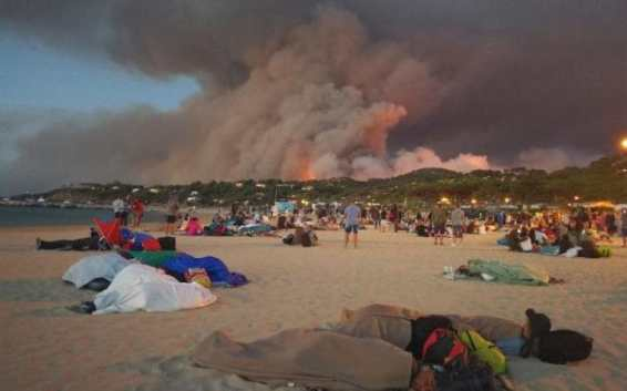 Fires in Bormes-Les-Mimosas,