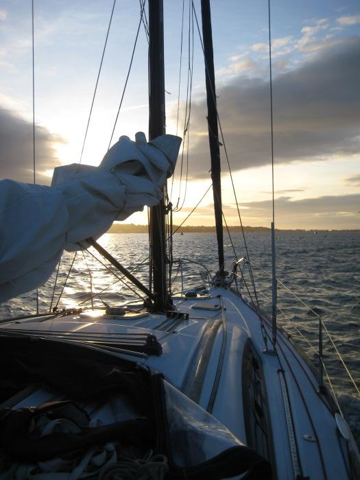 Sailing through the ocean!