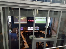 View on the Copernicus Sentinel-3 satellite control centre room.
