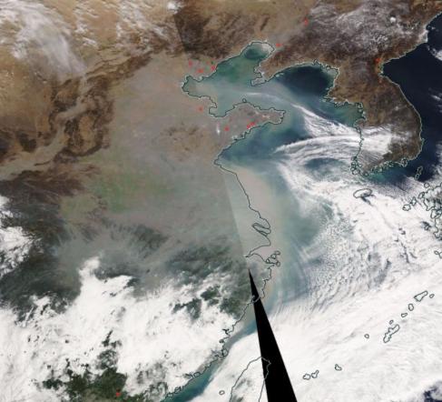 2019.01.17 NASA MODIS Aqua false RGB composite image. Credit NASA EOS WorldView. Source: https://worldview.earthdata.nasa.gov/?p=geographic&l=VIIRS_SNPP_CorrectedReflectance_TrueColor(hidden),MODIS_Aqua_CorrectedReflectance_TrueColor,MODIS_Terra_CorrectedReflectance_TrueColor(hidden),MODIS_Aqua_Angstrom_Exponent_Ocean(hidden),MODIS_Aqua_AOD_Deep_Blue_Land(hidden),MODIS_Aqua_Aerosol_Optical_Depth_3km(hidden),MODIS_Aqua_AOD_Deep_Blue_Combined(hidden),AIRS_CO_Total_Column_Day(hidden),OMI_Nitrogen_Dioxide_Tropo_Column(hidden),MODIS_Terra_Thermal_Anomalies_All,MODIS_Terra_Aerosol_Optical_Depth_3km(hidden),Reference_Labels(hidden),Reference_Features(hidden),Coastlines&t=2019-01-17-T00%3A00%3A00Z&z=3&v=97.78198716466228,19.823136129740995,139.01922120721545,44.71376112974098
